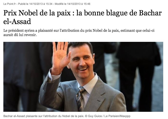 la blague de El Assad