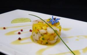 Tartare de coquilles St Jacques et mangue