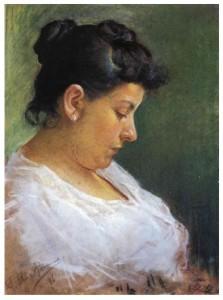 La mère de Picasso, par Picasso (1896). Picasso a 15 ans.