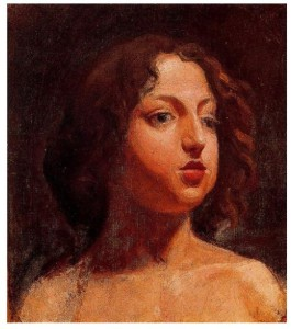 'Tête de petite fille'  (1896). Picasso a 15 ans.