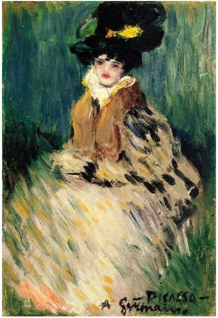 Germaine  (Picasso  1900)  cette jolie peinture a été vendue en 2001 à Christies à un collectionneur privé pour $830.000