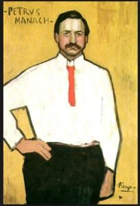 Pere Manyac, d'une trentaine d'années, est marchand de tableaux et fasciné lar Picasso. De lui Picasso reçoit 150 francs chaque mois pour ses peintures.