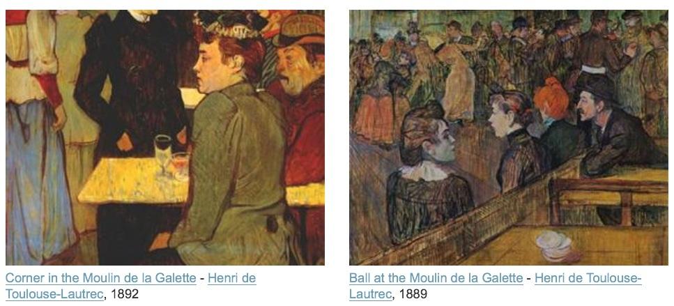 Et voilà Toulouse-Lautrec inspiré aussi par le musée de la galette (il en a fait plusieurs).