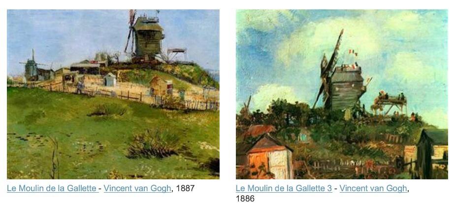 1886, c'est van Gogh qui peint le moulin de la galette.