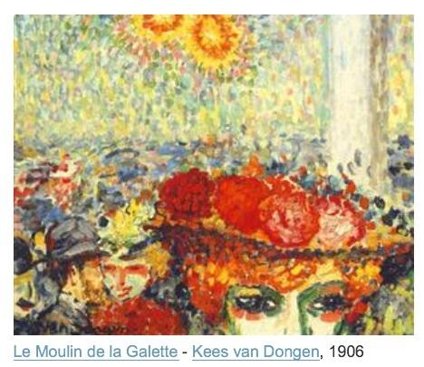 Et, en 1902, voilà Kees van Dongen qui nous donne sa version. Tous ces peintres s'influencent les uns les autres et à la fois essayent de trouver leur propre voie.