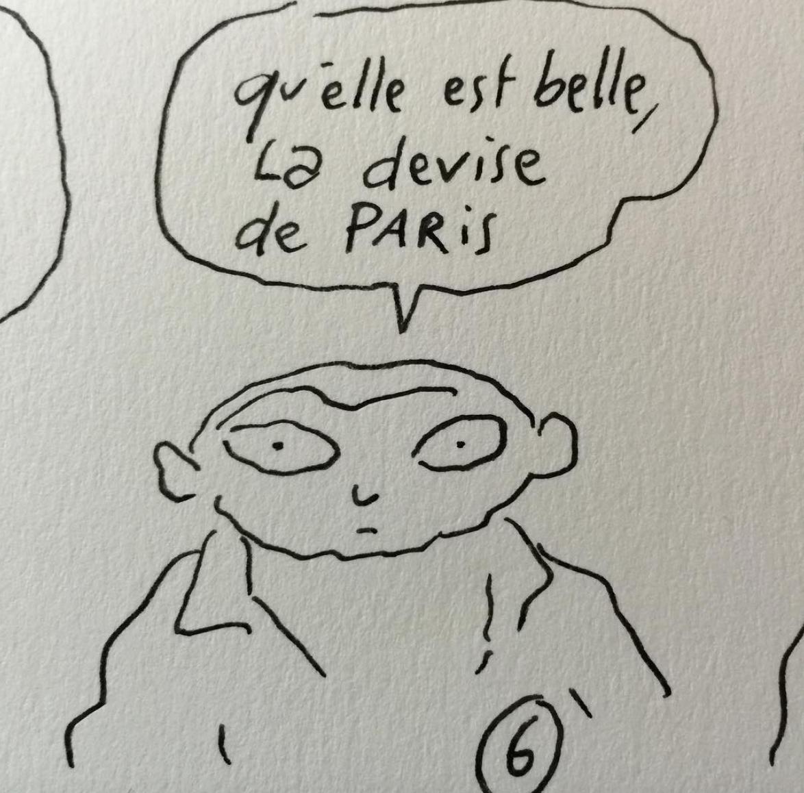 Wat is die mooi, de motto van Parijs.